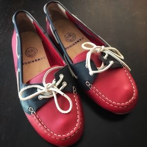 NWOT Cambridge Blvd Red Black Loafers Sneakers 8.5